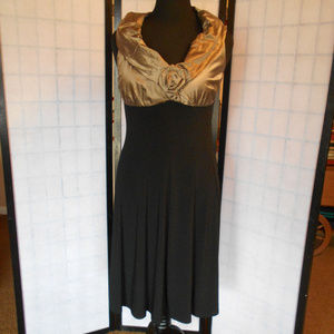 Joseph Ribkoff Gold & Black Dress Size 12